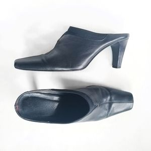 Sesto Meucci Black Leather Mules Sz 6.5 M